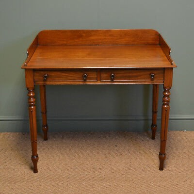 Elegant Regency Mahogany Tulip Leg Antique Writing / Side Table