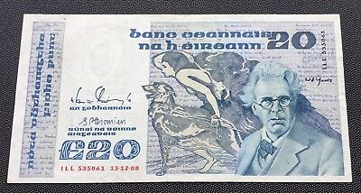 1988 Central Bank of Ireland £20 note