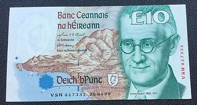 1999 Central Bank of Ireland £10 note