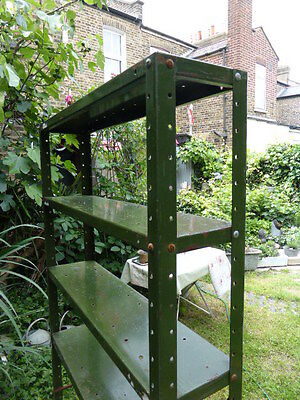 Vintage industrial style metal shelves or shelving unit