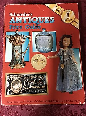 Schroeder's Antiques Price Guide Twelfth Edition 1994 Paperback Book SHIPS TODAY