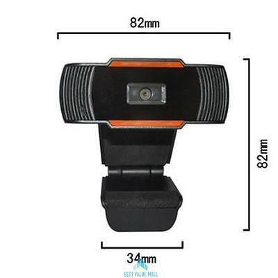 1080P HD 12MP USB2.0 Webcam Camera with MIC Clip-on for Computer PC Laptop UK