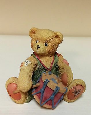 """Cherished Teddies - Ronnie """"I'll Play My Drum For You""""  Figurine from 1994"""