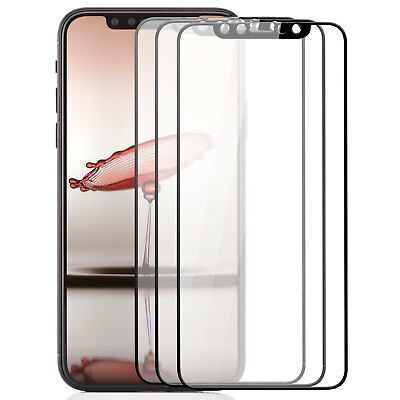 3x 3D Panzerglas für iPhone X - Displayschutz Folie komplett Full Cover Glas 9H