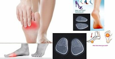 Insoles Silicone Gel Ball of Foot Metatarsal Cushion Pad to Relief Pain & Shocks