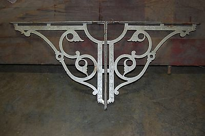 "Large Antique Pair Eastlake Cast Iron Shelf or Sink Brackets 17 1/2"" x 15 1/2"""