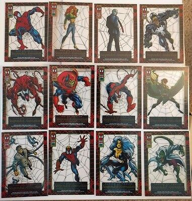 1994 MARVEL SPIDERMAN Suspended Animation Chase Cards FULL SET COMPLETE! ALL 12!
