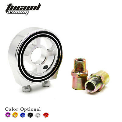 Oil Filter Sandwich Plate Adapter For Defi Oil Temp Oil Pressure Gauge Sensor