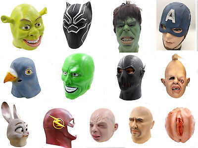 Luxurious shell latex full head masks Halloween Cosplay costume party props