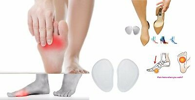 Silicone Gel Insole Ball of Foot Metatarsal Cushion Pad to Relief Pain & Shocks