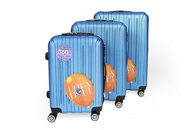 Hard Shell 4-Wheels ABS Hand Luggage Suitcases ULTRA LIGHT WEIGHT