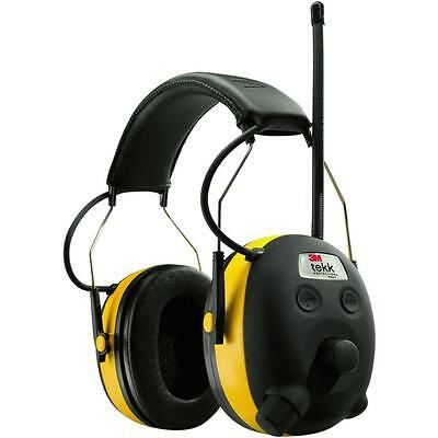 3M Tekk Protection Worktunes Ear Muffs AM/FM MP3 iPod Stereo Wired NRR 24 Db NEW