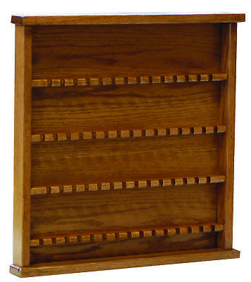 Oak Collectors Spoon Display Rack Case - Amish Made in USA