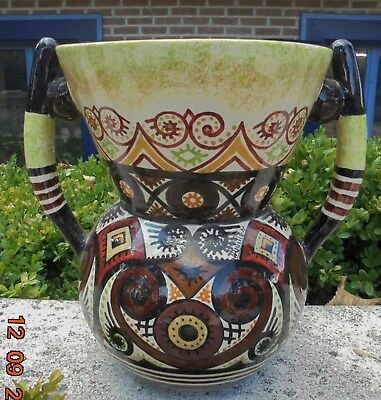 Ancien Grand Vase De Paul Fouillen Décor Breton Stylisé Celtique N3891