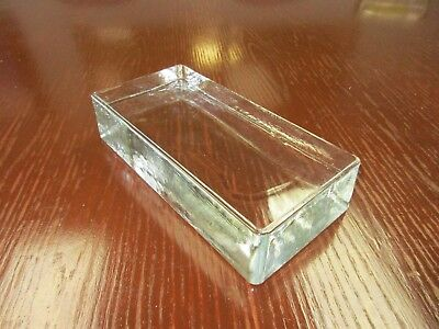 Seves VetroPieno Solid Glass Full Brick Clear (One) 24 cm x 11.7 cm x 5.3 cm