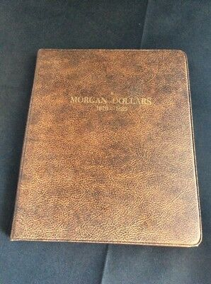 Morgan Dollars Collectors Book W/24 Morgans 1 Peace & 12 Eisenhower $1 Coins
