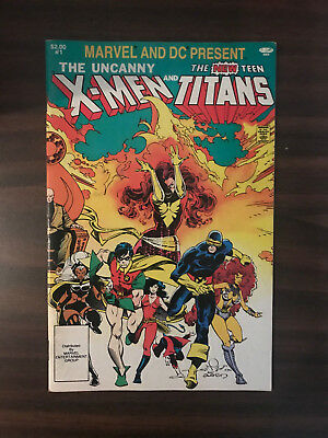Uncanny X-Men And The New Teen Titans #1 Very Nice Copy