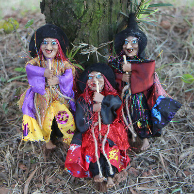 Halloween Hanging Witch Prop Talking Animated Scary Decoration Outdoor Decor