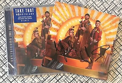 TAKE THAT Wonderland SIGNED Autographed CD Gary Barlow!