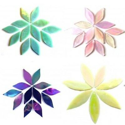 Hand Cut Petal & Leaf Mosaic Tiles in a Choice of Colours & Sizes
