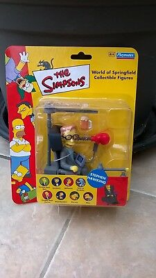 The Simpsons Action Figure World Of Simpsons Wos Stephen Hawking Bnib