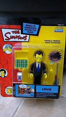 The Simpsons Action Figure World Of Simpsons Wos Louie Bnib