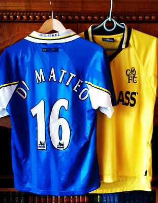 Two Shirt Jersey Chelsea 1997 Home #16 Di Matteo 1998 Third Umbro Size Y