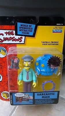 The Simpsons Action Figure World Of Simpsons Wos Sarcastic Man Bnib