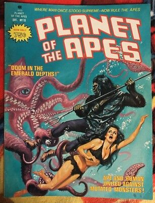 Marvel/Curtis PLANET OF THE APES Magazine 15 VG ***$3.98 UNLIMITED SHIPPING***