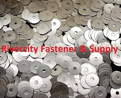 "(100) 1/4x1-1/2 Fender Washers Stainless Steel 1/4 x 1-1/2"" Large OD Washer"