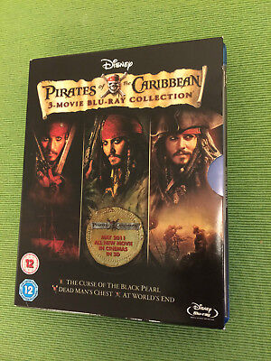 Pirates of Caribbean 1-3 (Blue-ray, 3-Disc Set, Box Set)
