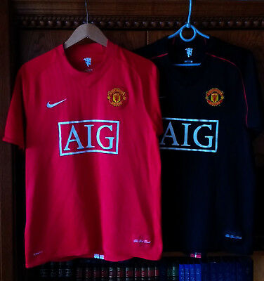 Two Shirt Jersey Manchester United 2007 2008 Home Away Nike Size M