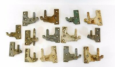 Antique  Iron Shutter Hinge Parts, lot of 14,