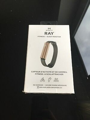 Misfit Ray - Fitness + Sleep Tracker with Black Sport Band (Gold)
