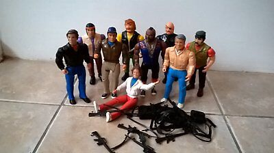 Job Lot 9 A-Team Action Figure Galoob Amy Weapons Collectable