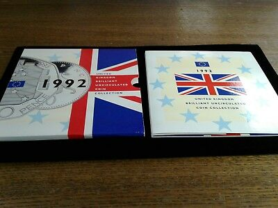 1992 UK Brilliant Uncirculated Coin Collection with rare 1992/1993 50 Pence