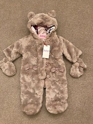 Gorgeous Baby Girls Ted Baker Fur Snowsuit 0-3 Months