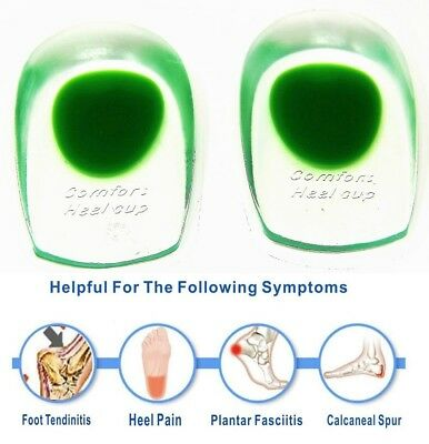 Insoles Silicone Gel Heel Pad Cup Heel Plantar Fasciitis Associated Pain Cushion