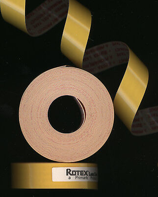 1x ORIGINAL ROTEX 12,7mm x 3,0M PRÄGEBAND GELB glanz für Etiketten label yellow