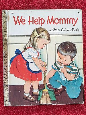WE HELP MOMMY  A Little Golden Book 1959 5th Edition