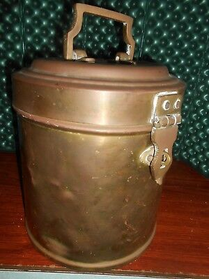 Vintage Antque Ships Brass Galley Canister Captains Can Lockable 2 gal
