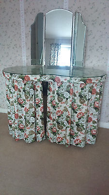 1950's Kidney Shaped Dressing Table with curtains