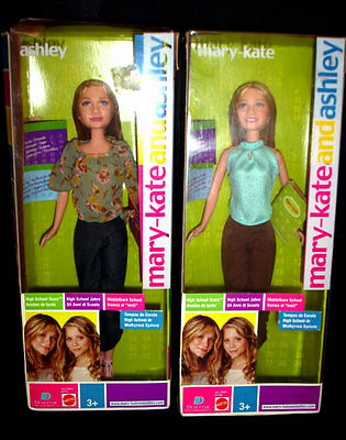 MARY-KATE & ASHLEY DOLLS ~ HIGH SCHOOL YEARS ~ BARBIE Sz FIGURES Mattel 2004