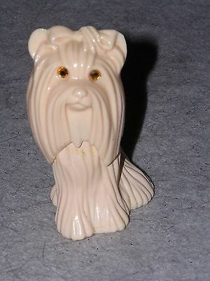 Avon Princess of Yorkshire light brown dog with crystal eyes - 3.75 inches tall