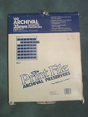 Print File 35-7 Negative Preservers for 35mm film Pack of 100 pages
