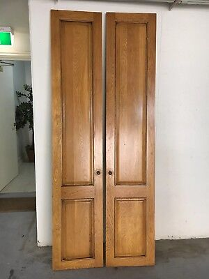Pair of tall pantry doors – solid timber – Country style – VGC - PU 3142