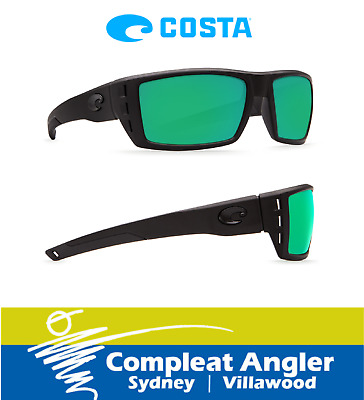 Costa Del Mar Rafael Blackout 580G Green Mirror Sunglasses BRAND NEW At Compleat