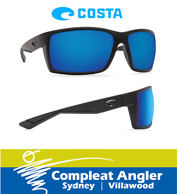 Costa Del Mar Reefton Blackout 580G Blue Mirror Sunglasses BRAND NEW At Compleat