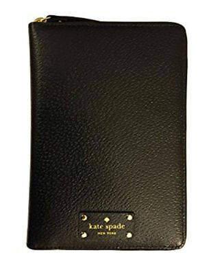 NEW Kate Spade Leather Zip Around Personal Organizer Planner Black