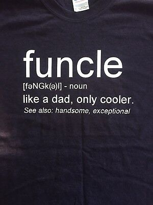 Funkle Uncle Definition T Shirt Black Unisex Gildan Heavy Weight